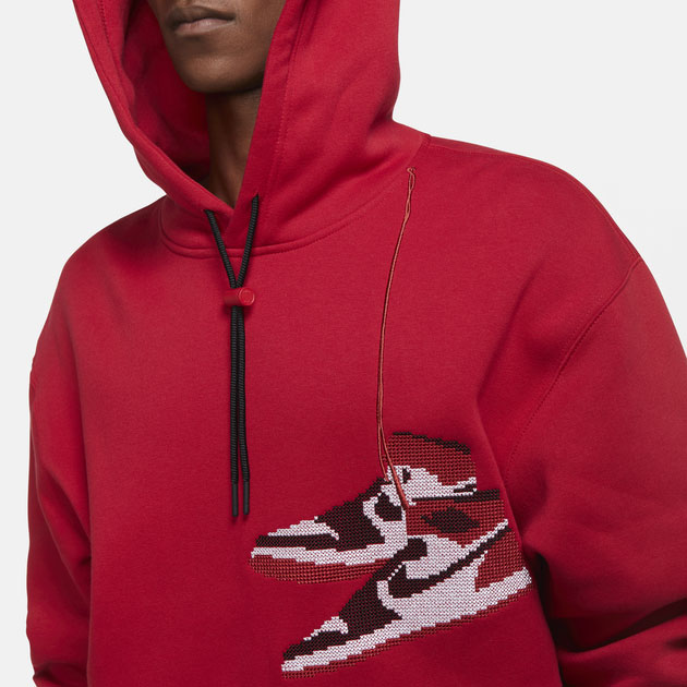 jordan-aj1-knit-stocking-holiday-hoodie-red-2