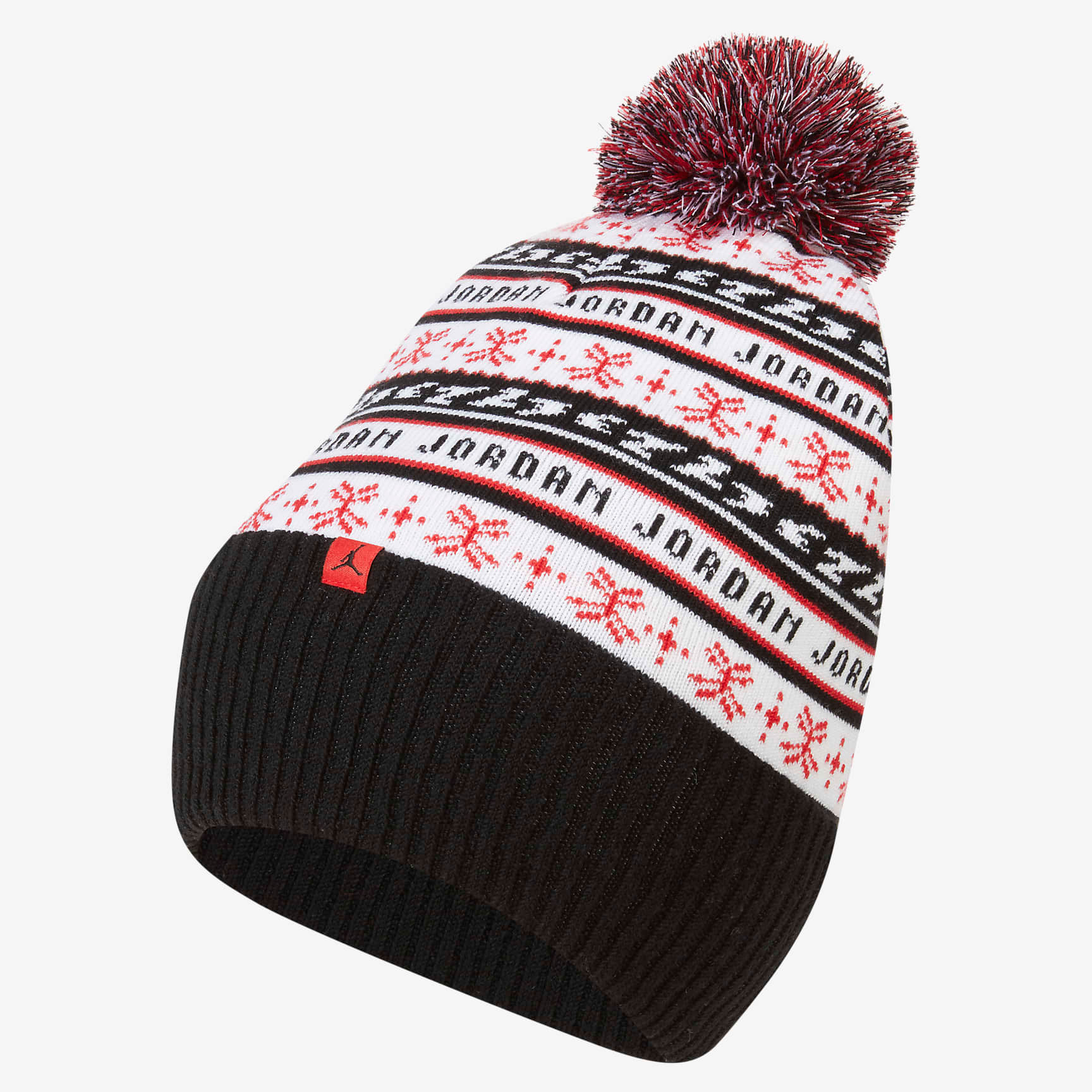 jordan-jumpman-holiday-ugly-sweater-beanie-hat-black-white-red-1