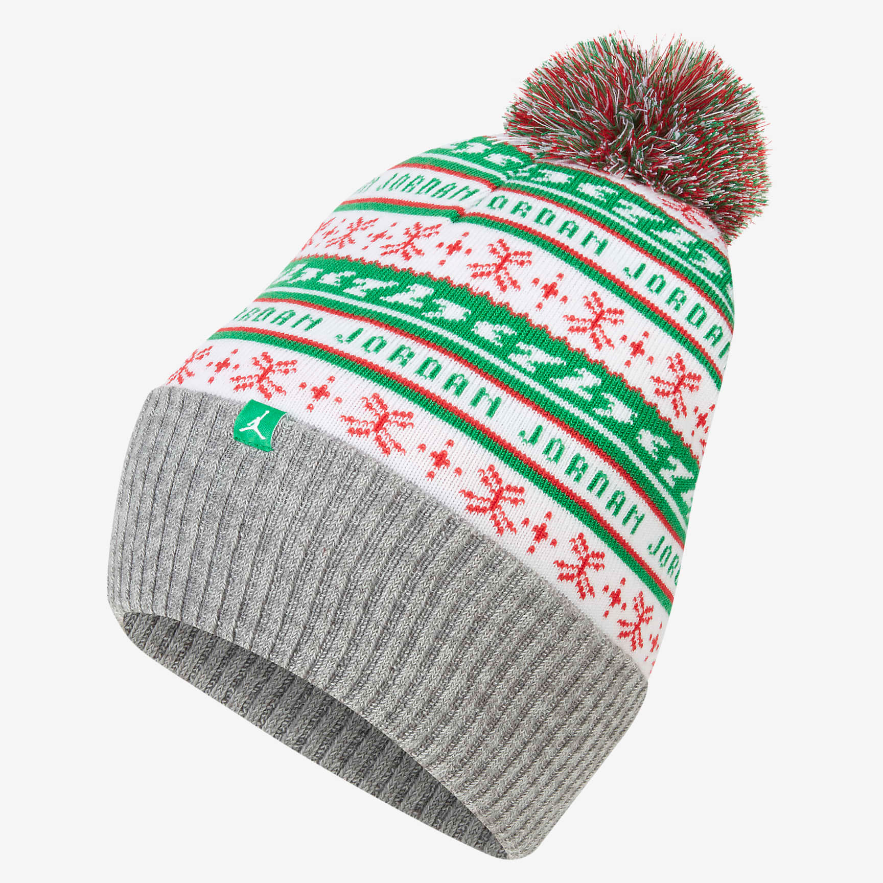 jordan-jumpman-holiday-ugly-sweater-beanie-hat-green-white-red-1