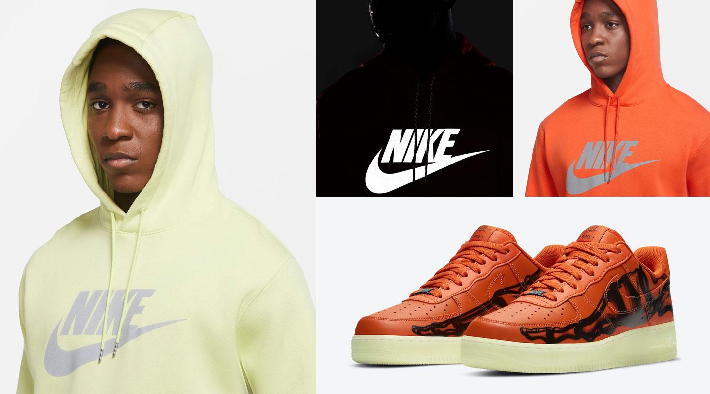nike-air-force-1-orange-skeleton-matching-hoodie