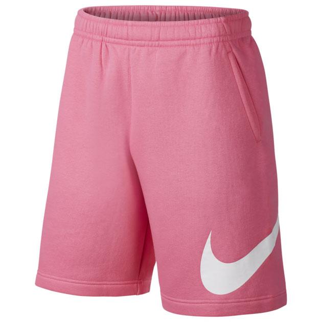 nike-air-max-1-pink-strawberry-lemonade-fleece-shorts
