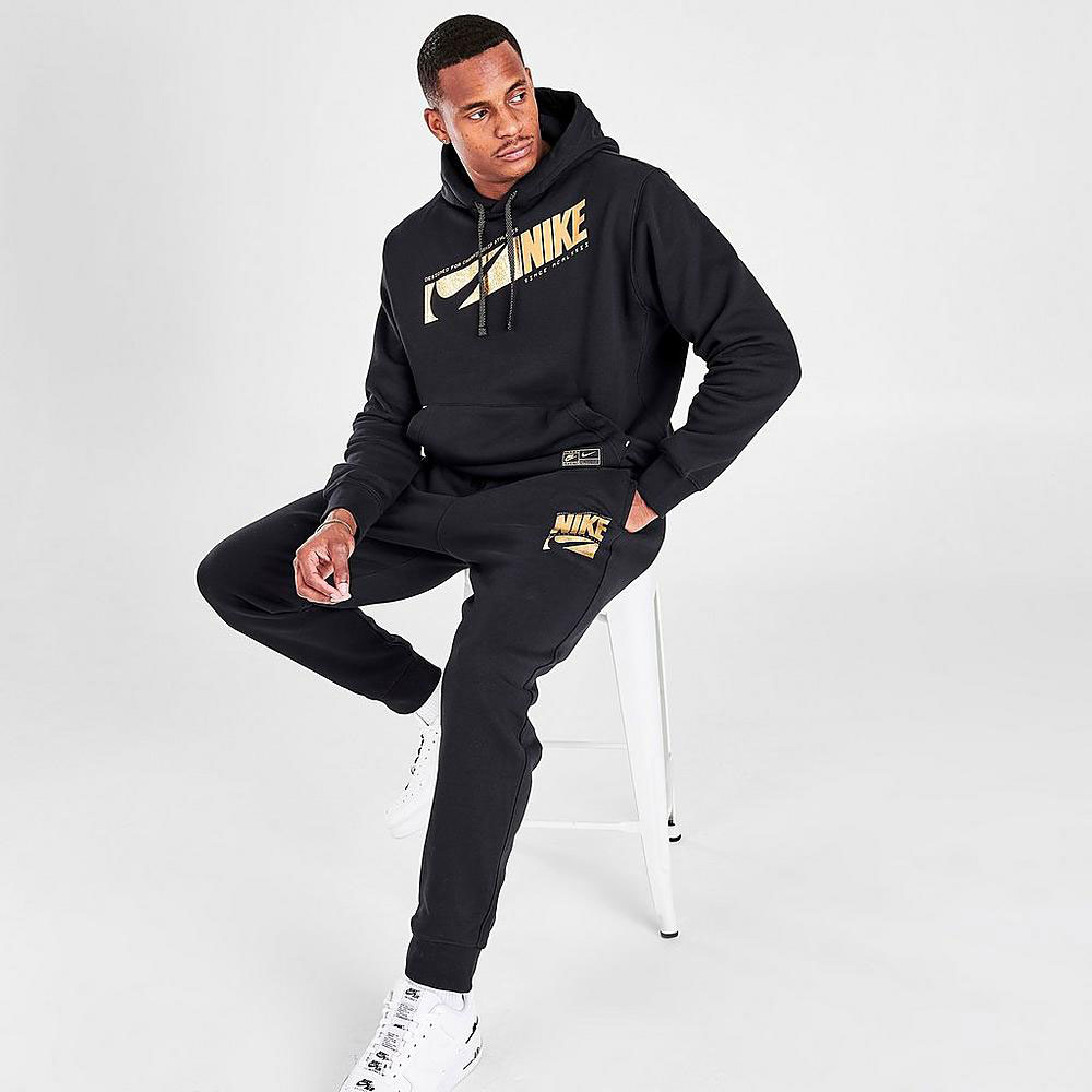 nike-black-metallic-gold-hoodie-jogger-pants