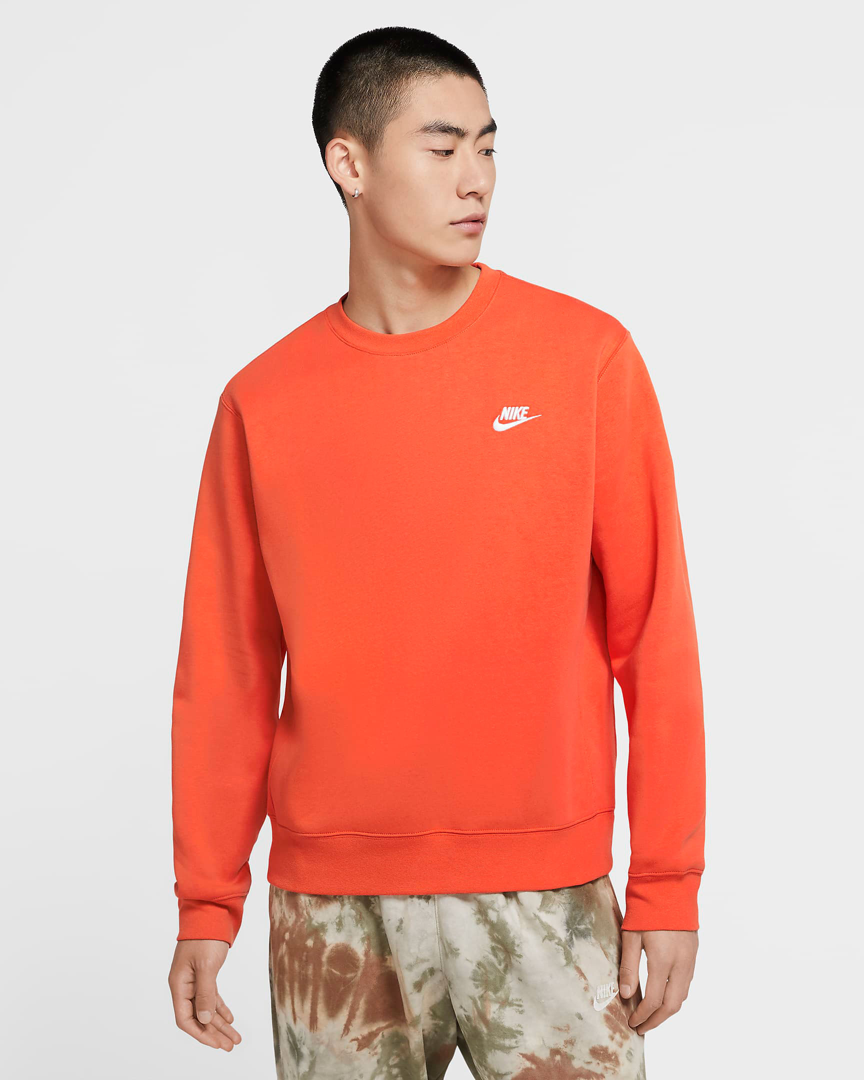 nike-club-fleece-crew-sweatshirt-orange