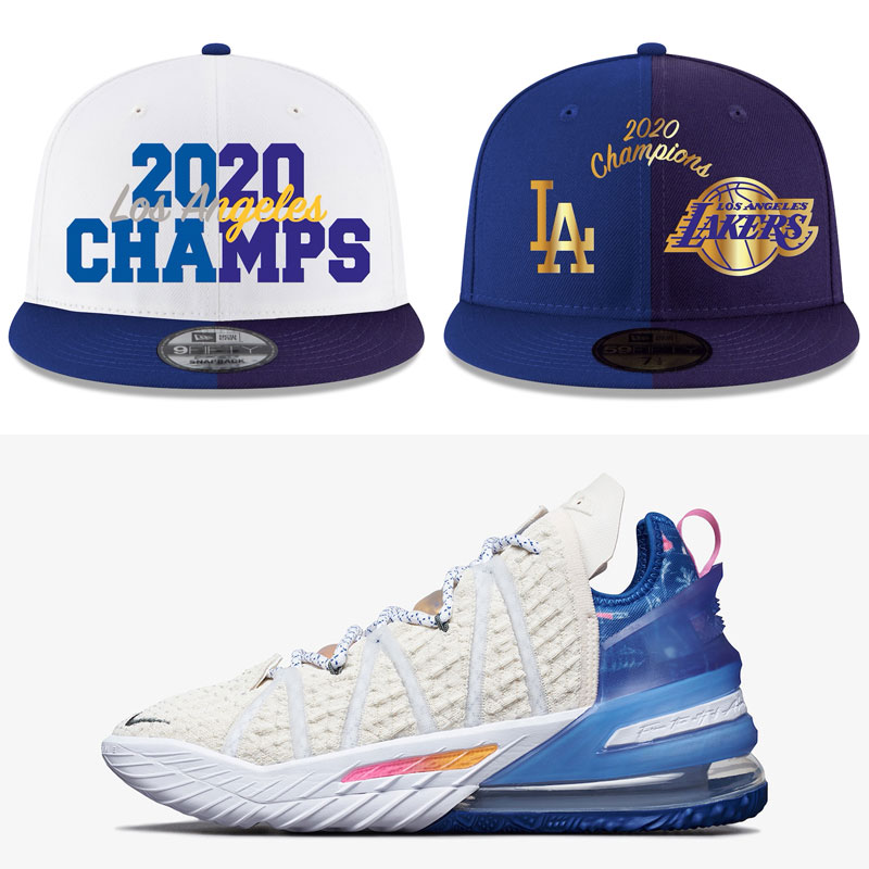 nike-lebron-18-los-angeles-by-day-hats