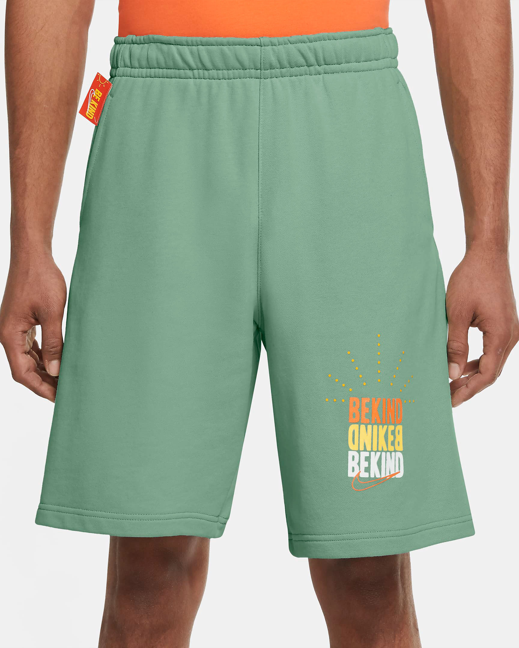 nike-sportswear-be-kind-green-orange-shorts-1