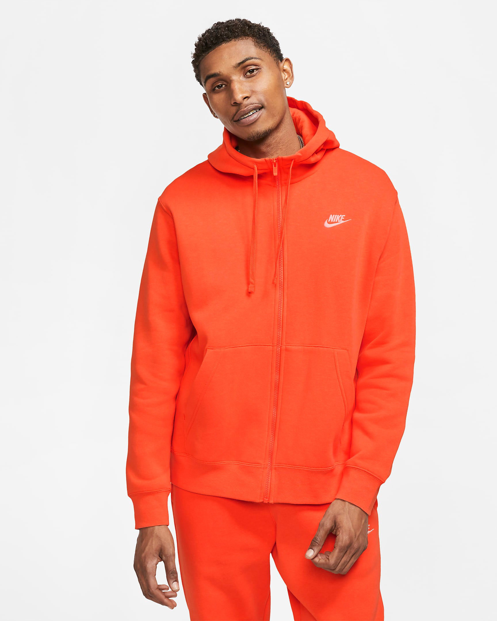 nike-sportswear-club-fleece-orange-full-zip-hoodie