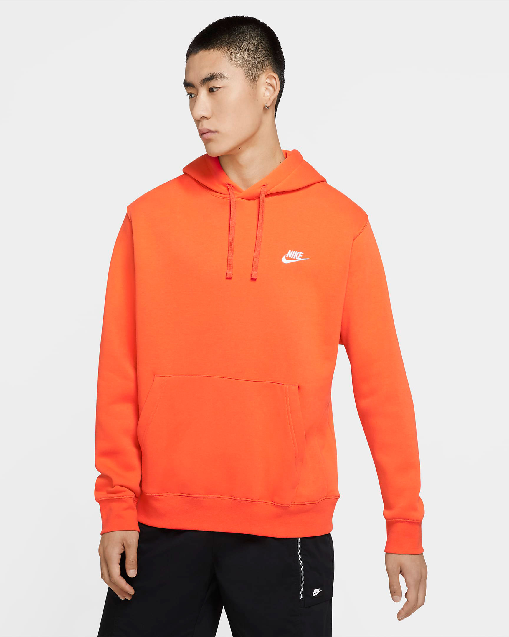 nike-sportswear-club-fleece-orange-pullover-hoodie