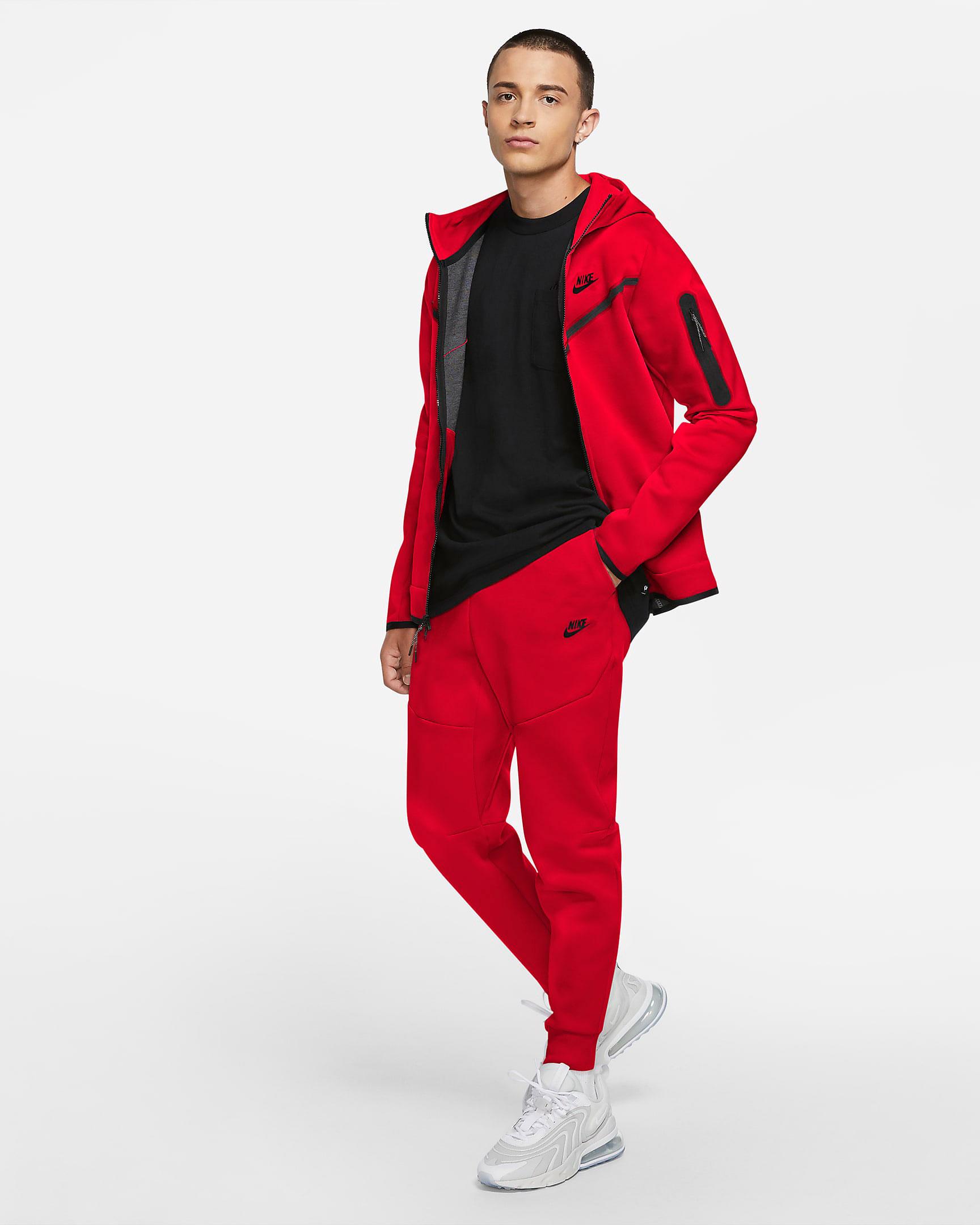 nike-tech-fleece-red-hoodie-jogger-pants