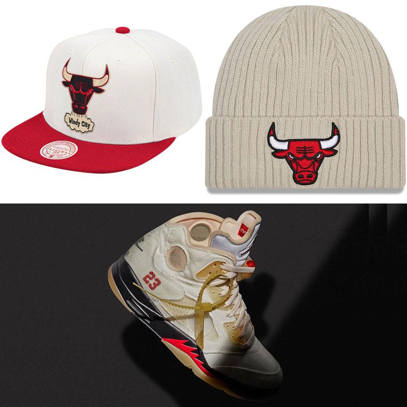 off-white-air-jordan-5-sail-bulls-hats