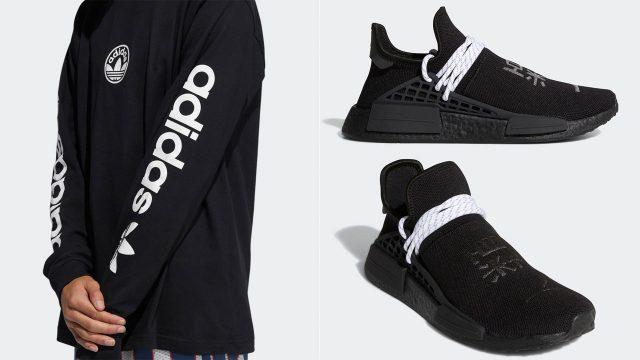 pharrell-adidas-nmd-hu-black-white-clothing-outfits