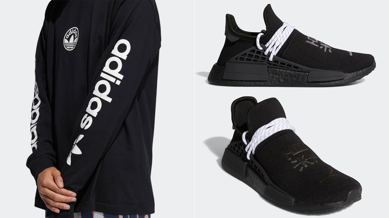 pharrell-adidas-nmd-hu-black-white-clothing-outfits