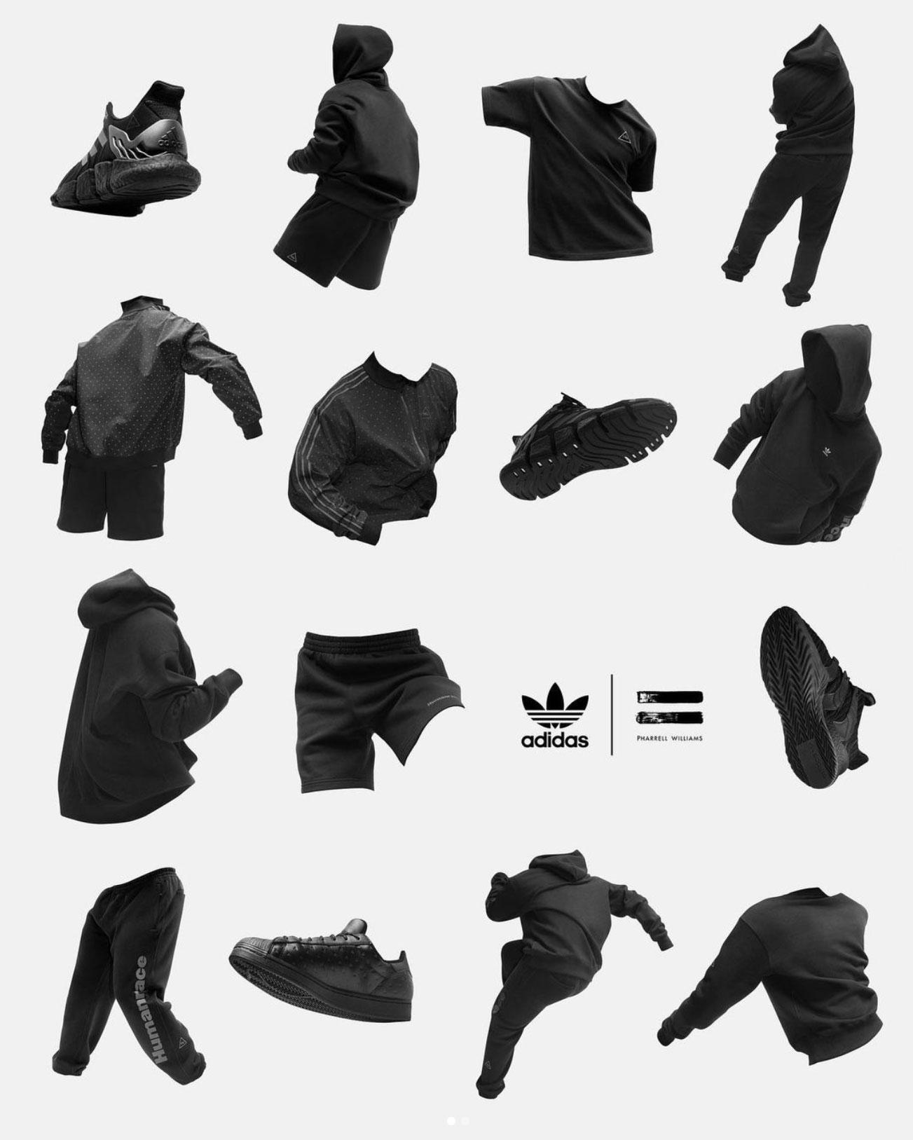 adidas-pharrell-williams-triple-black-clothing-shoes