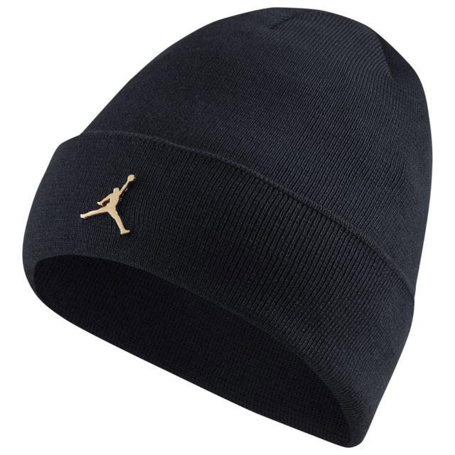 air-jordan-1-high-black-gold-beanie-knit-hat
