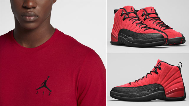 air-jordan-12-reverse-flu-game-matching-t-shirt