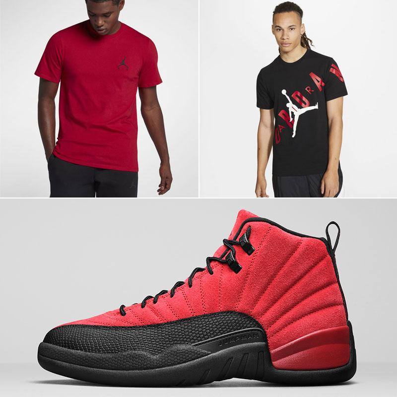 air-jordan-12-varsity-red-reverse-flu-shirts
