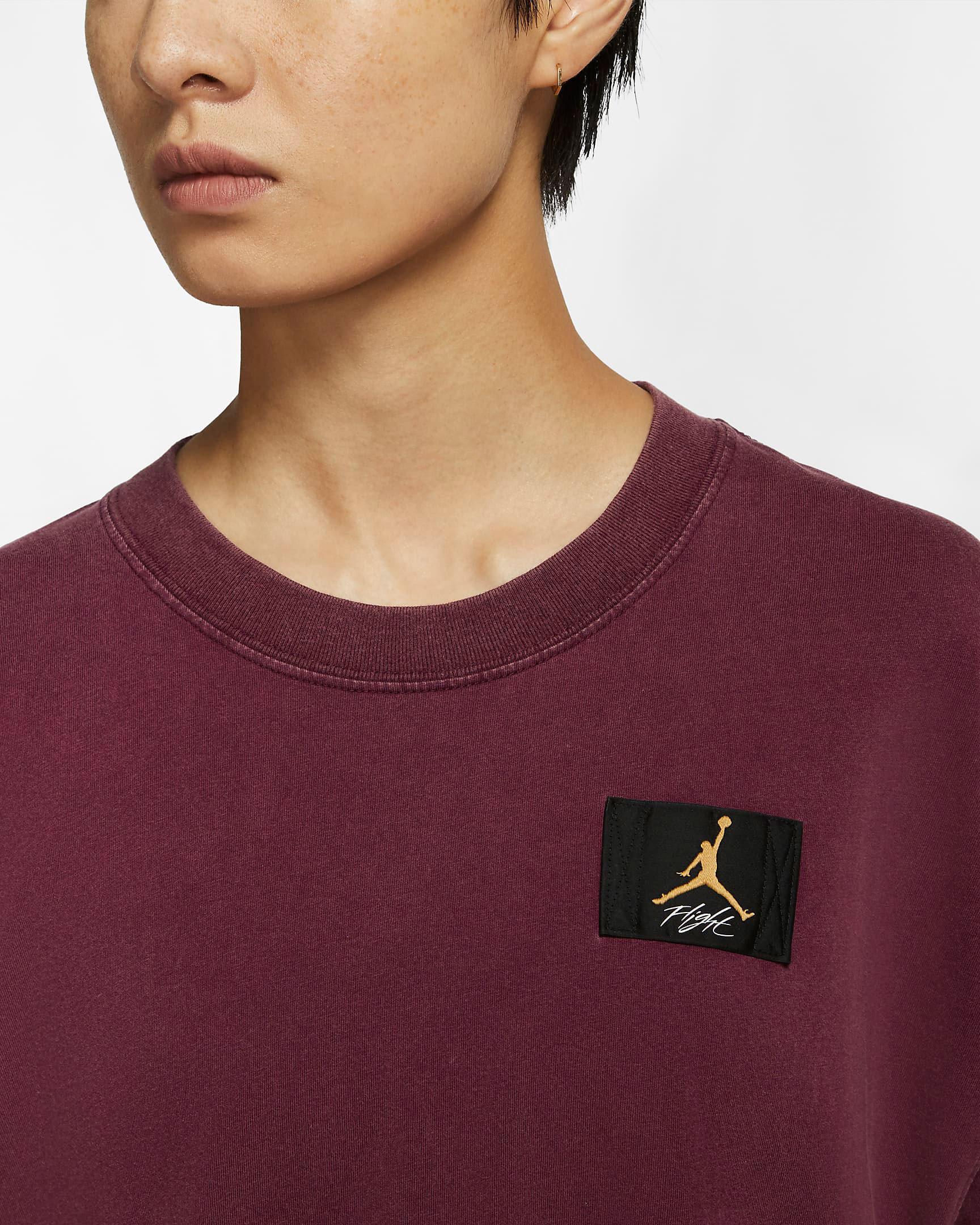 air-jordan-8-burgundy-beetroot-womens-jordan-tee-shirt