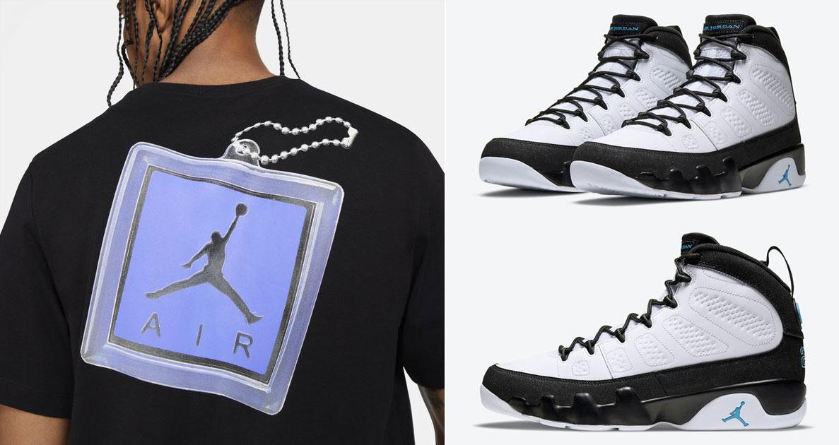 air-jordan-9-university-blue-keychain-shirt