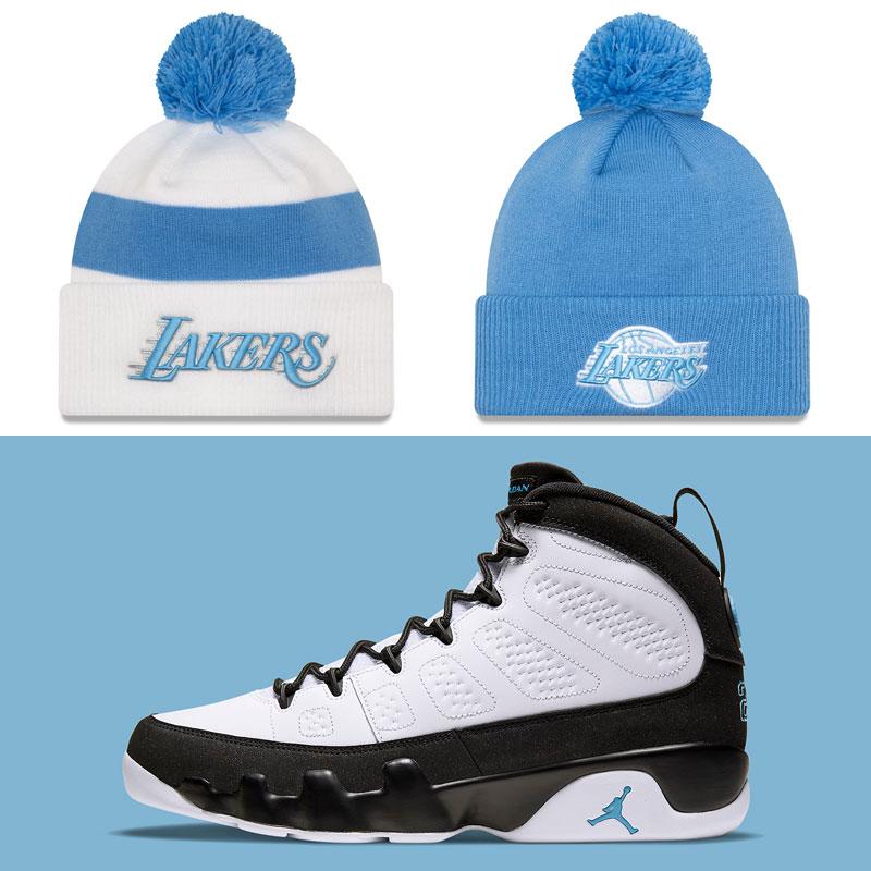 air-jordan-9-university-blue-lakers-beanie-hats