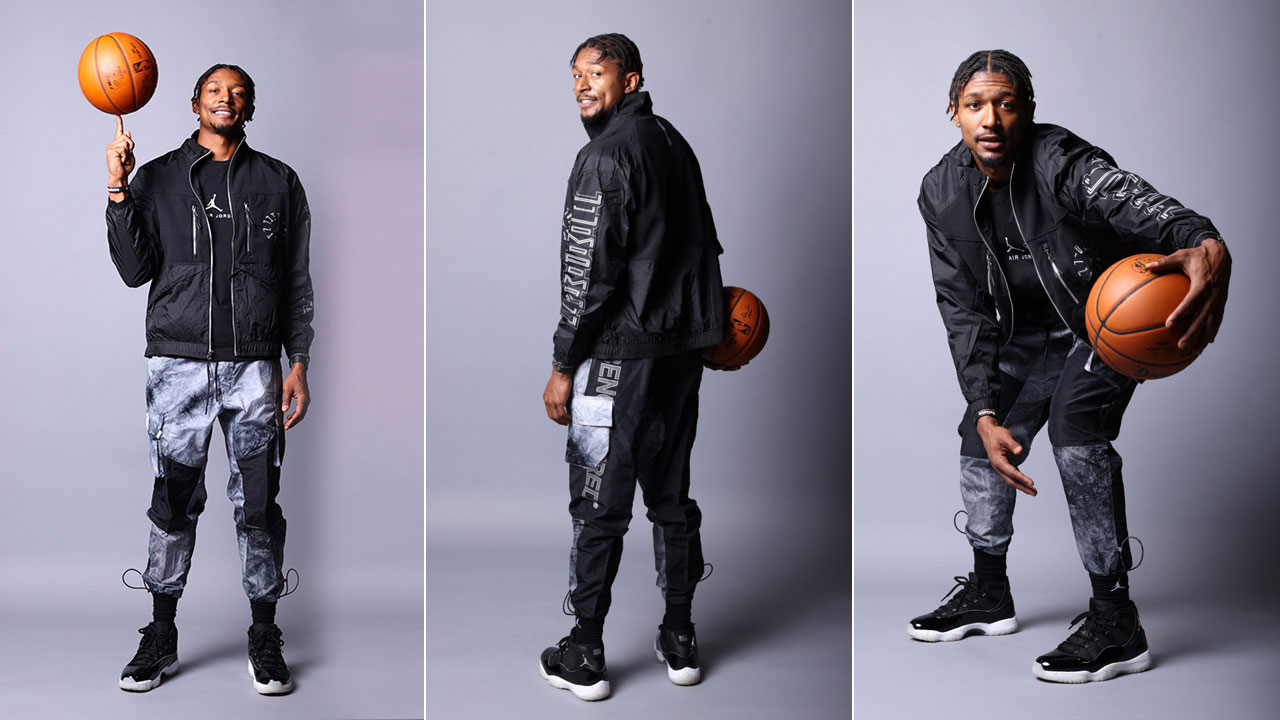 bradley-beal-air-jordan-11-jubilee-on-feet-outfit-match