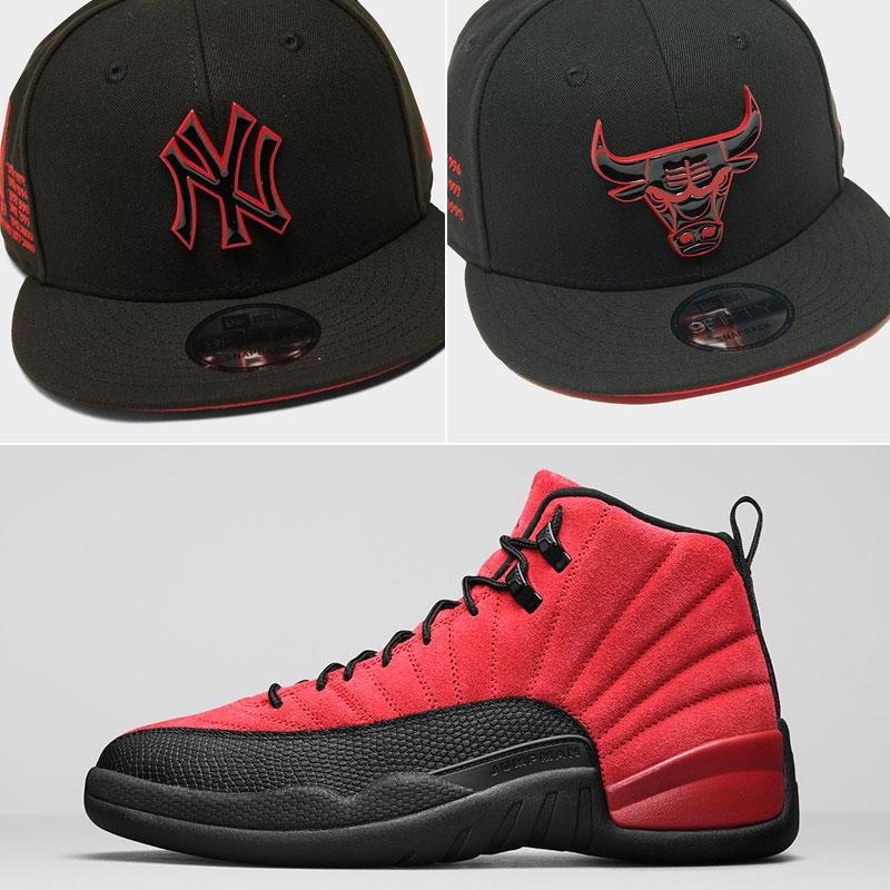 jordan-12-reverse-flu-game-hats