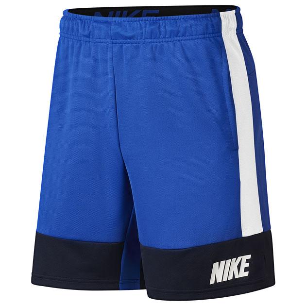 jordan-13-hyper-royal-black-nike-shorts-match