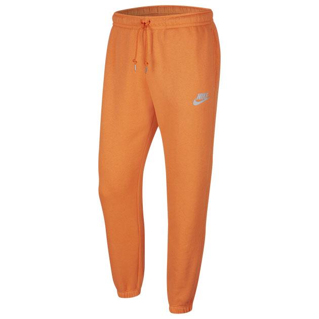 jordan-13-starfish-orange-nike-jogger-pants