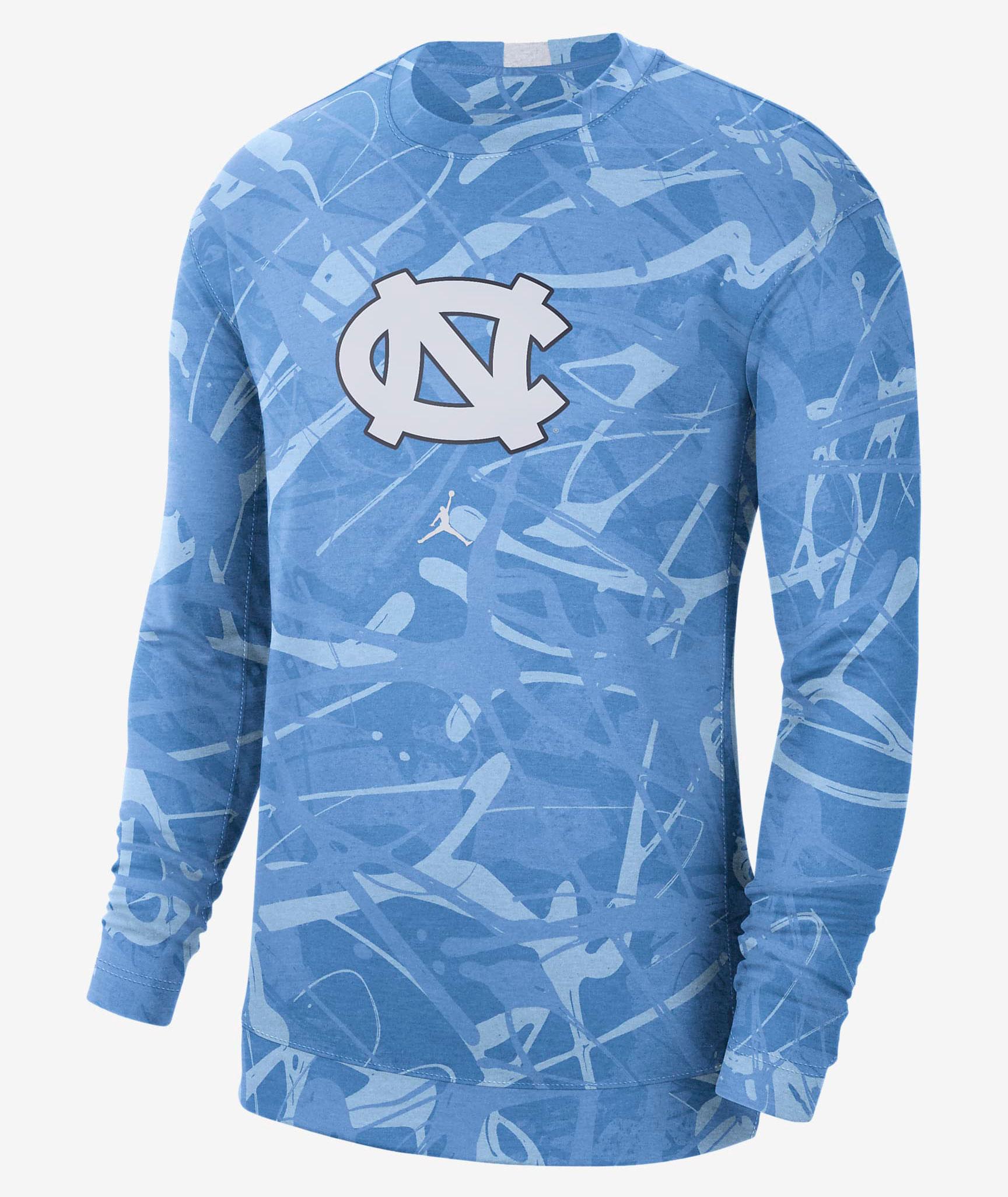 jordan-9-university-blue-unc-long-sleeve-shirt