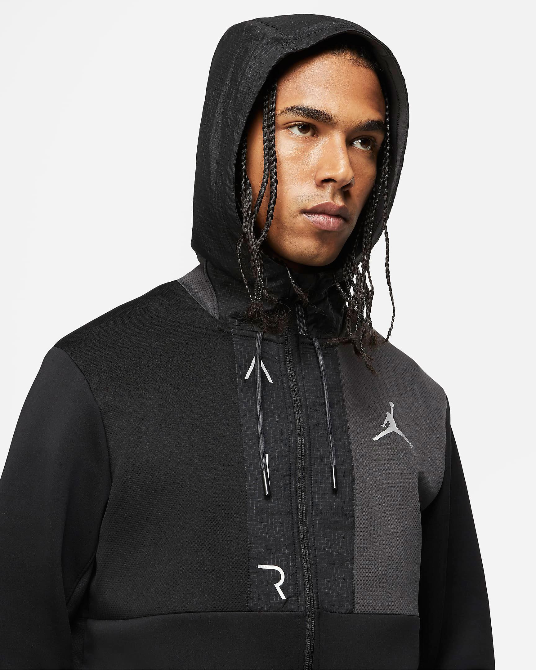 jordan-air-fleece-full-zip-hoodie-black-white-3