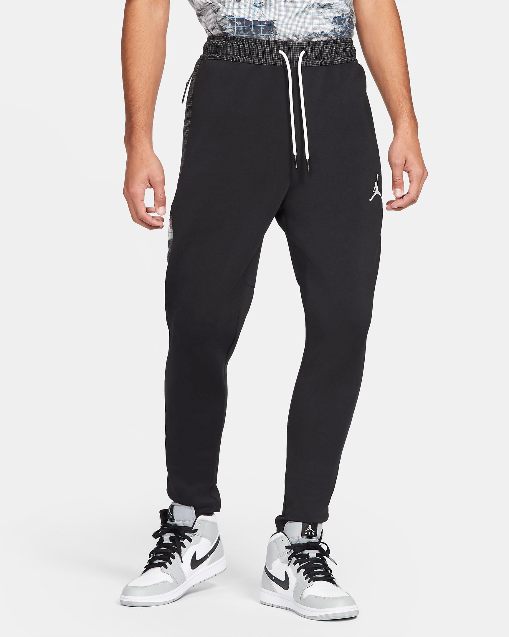 jordan-air-fleece-pants-black-white-1
