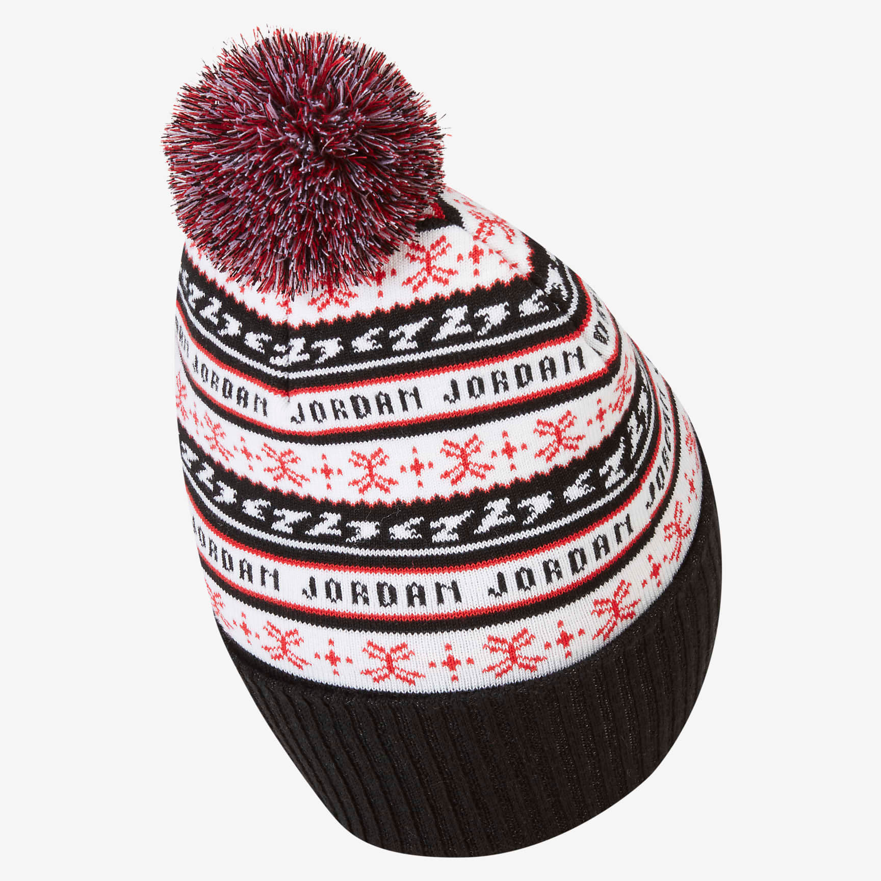 jordan-jumpman-holiday-ugly-sweater-beanie-hat-black-white-red-2