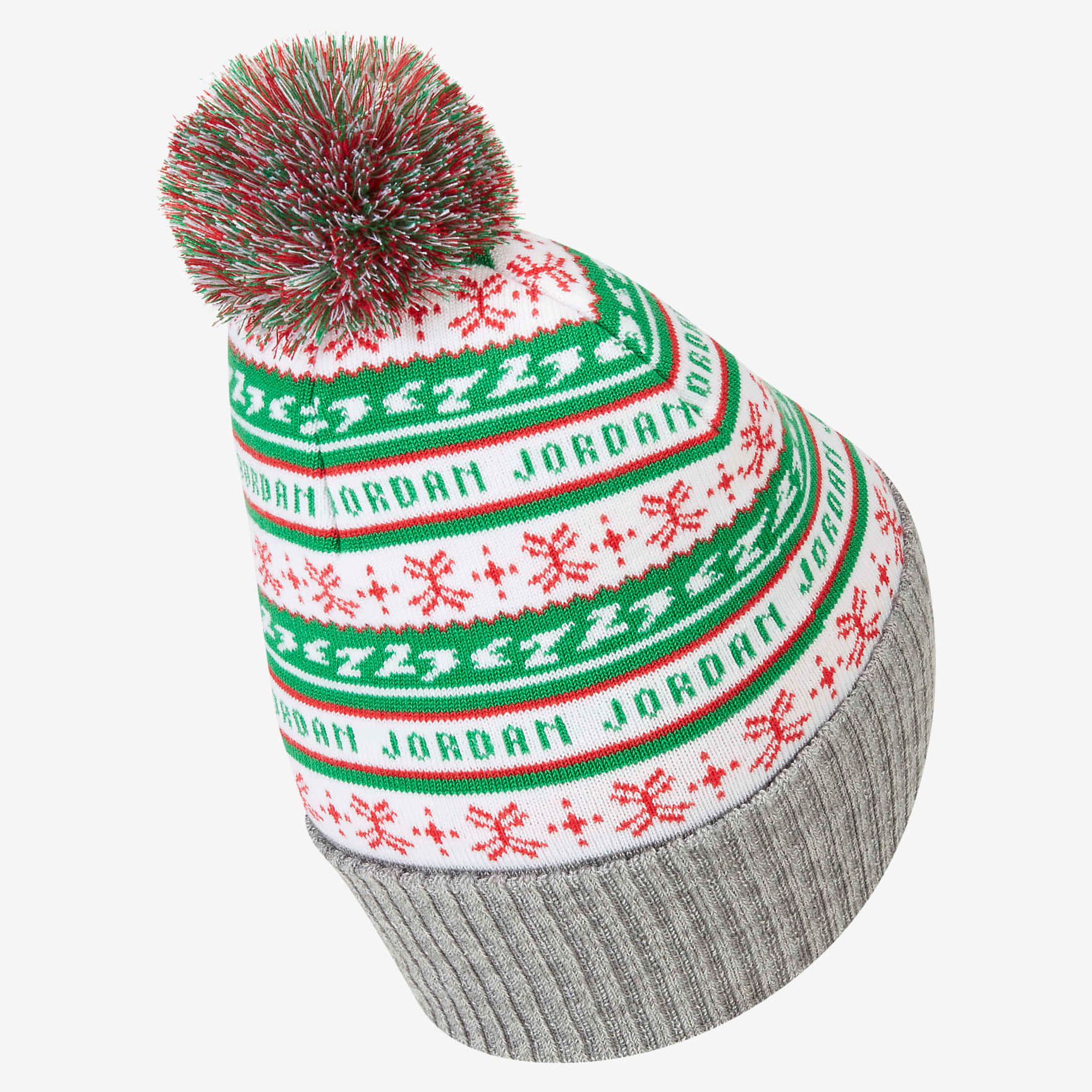 jordan-jumpman-holiday-ugly-sweater-beanie-hat-green-white-red-2