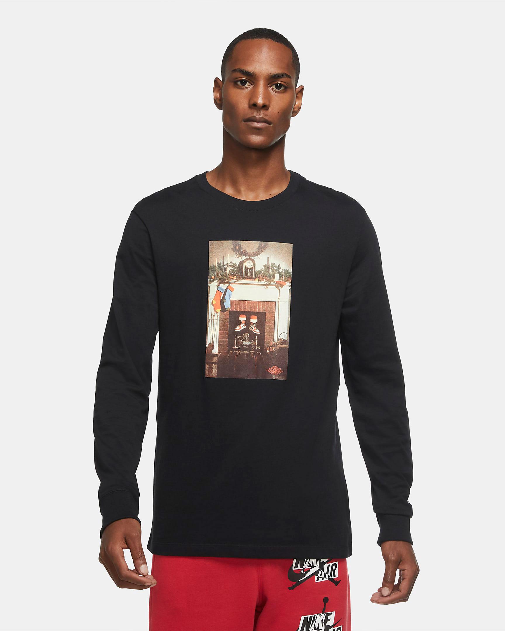 jordan-santa-chimney-holiday-long-sleeve-shirt-black-1