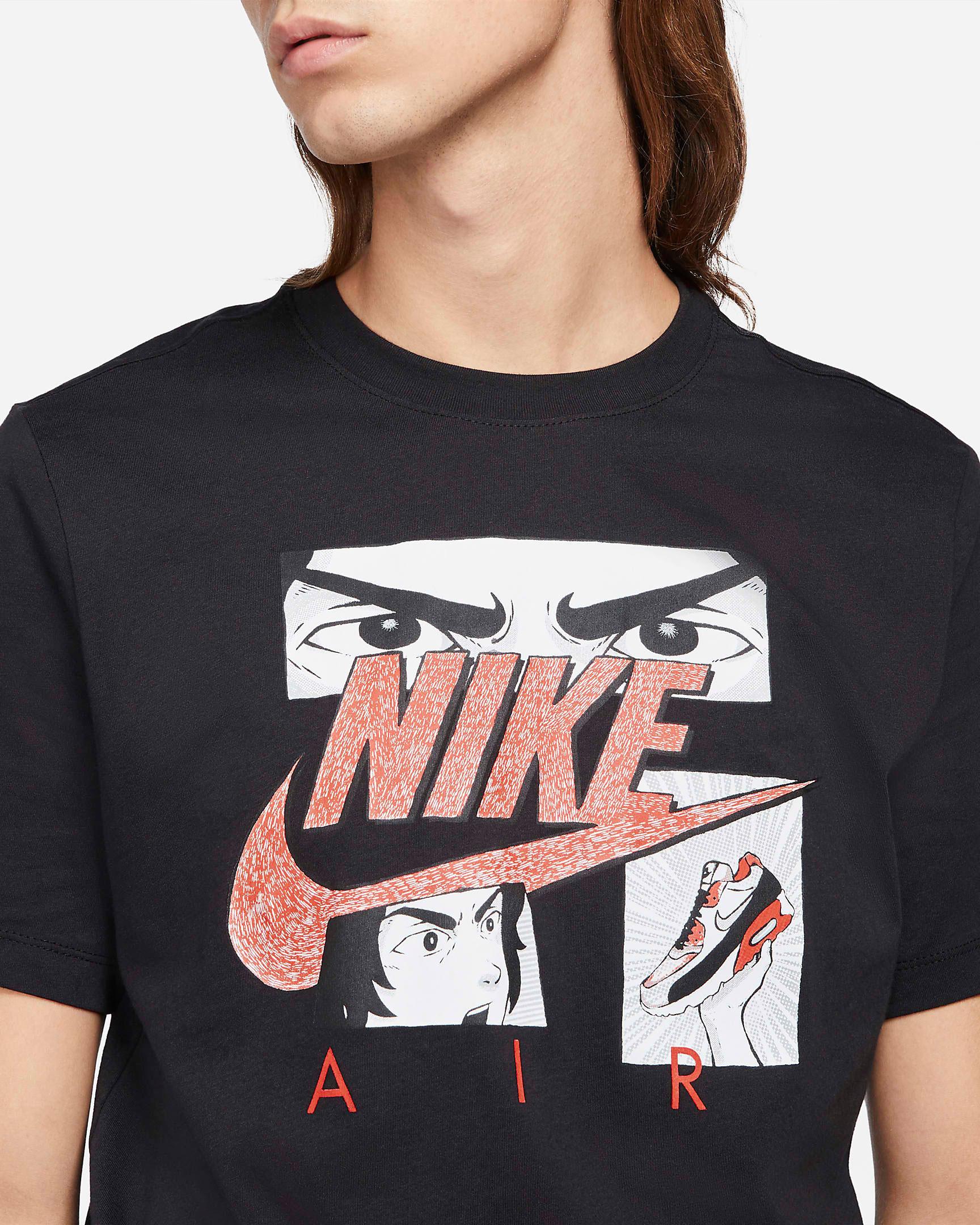 nike-air-max-90-infrared-radiant-red-manga-shirt-black-1
