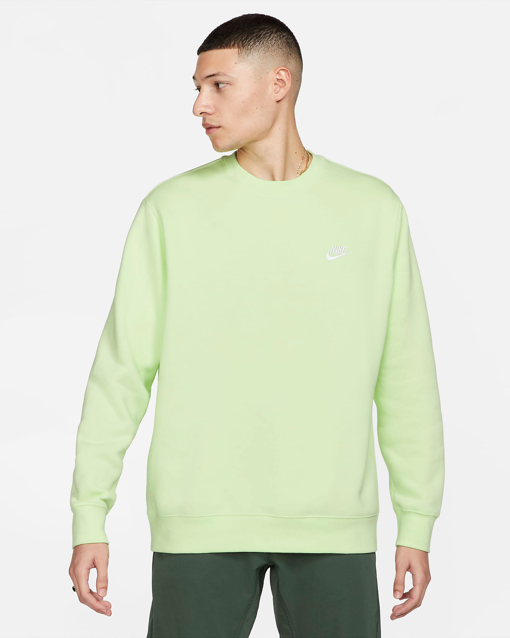 nike-club-fleece-crew-sweatshirt-light-liquid-lime-volt