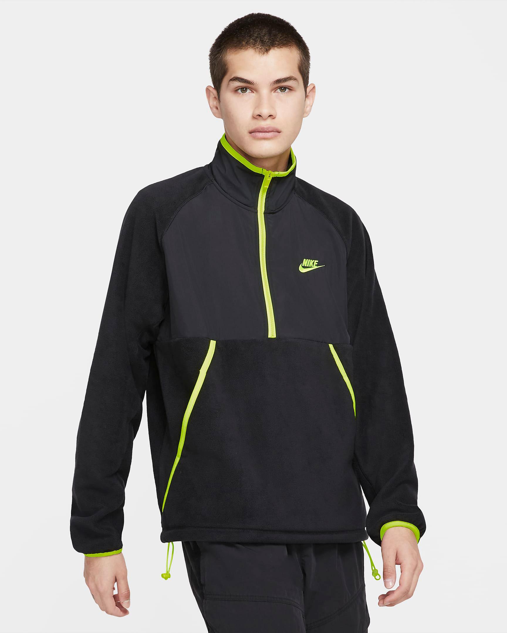 nike-sportswear-half-zip-top-black-volt