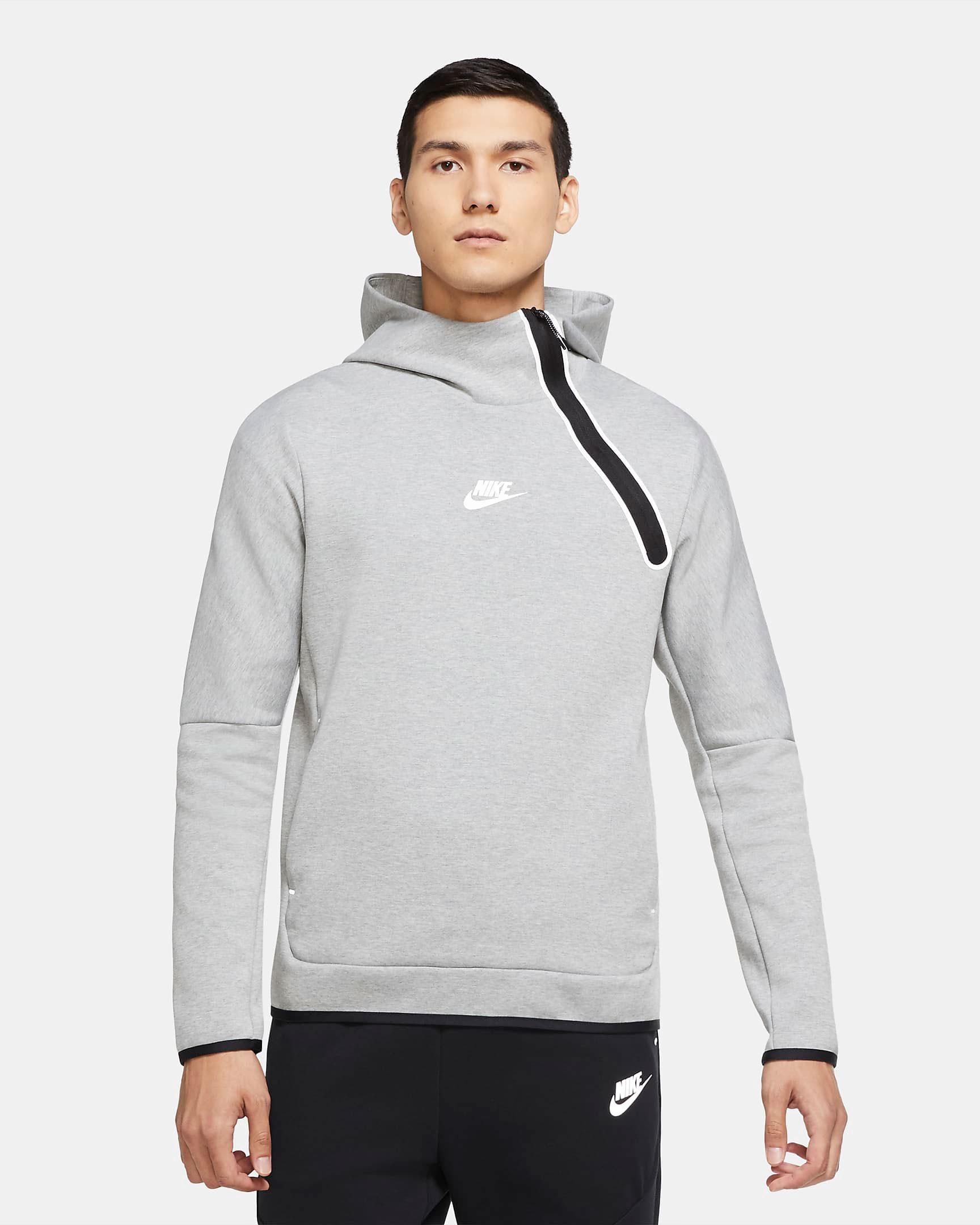 nike-tech-fleece-reflective-hoodie-grey-black-1