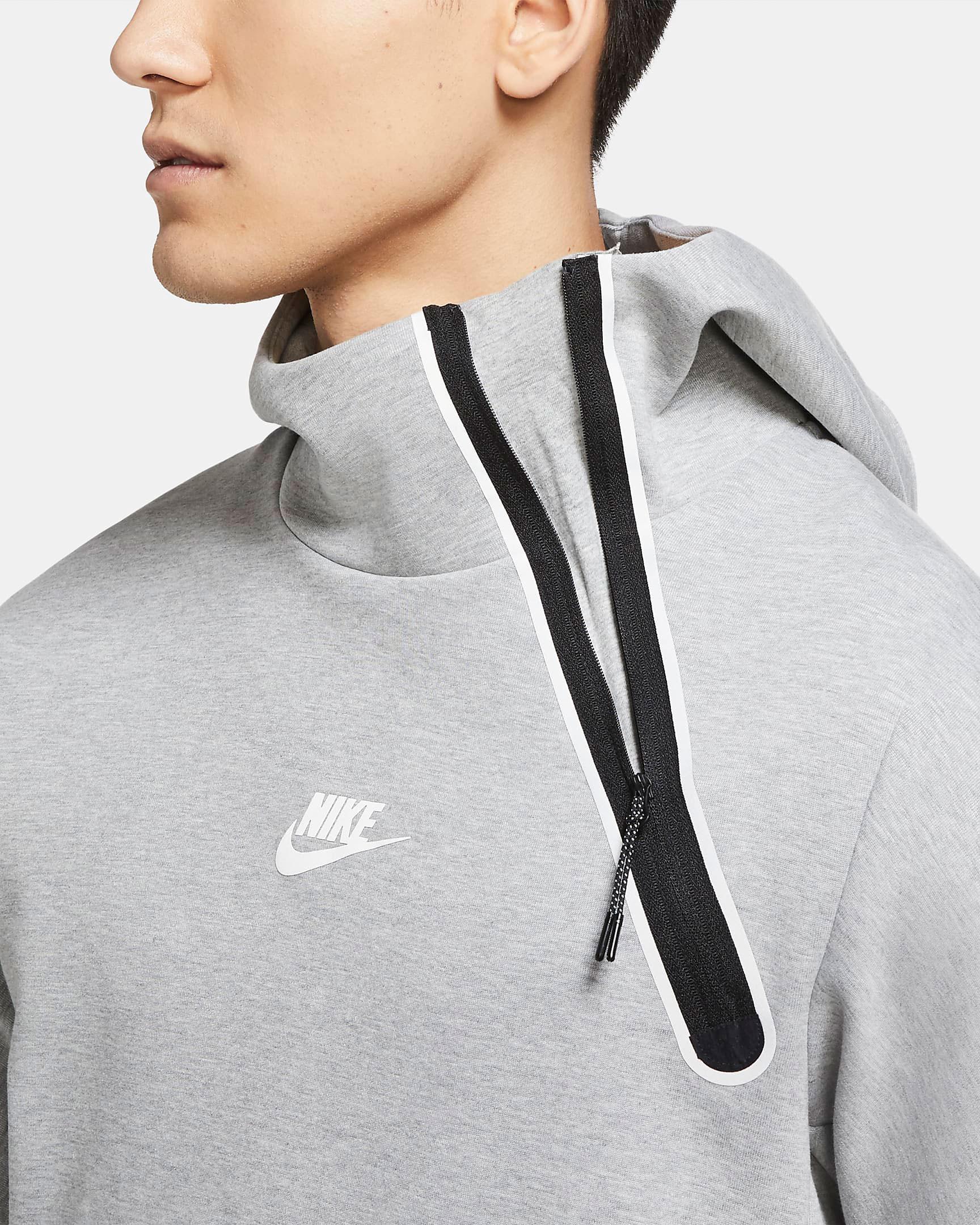 nike-tech-fleece-reflective-hoodie-grey-black-2