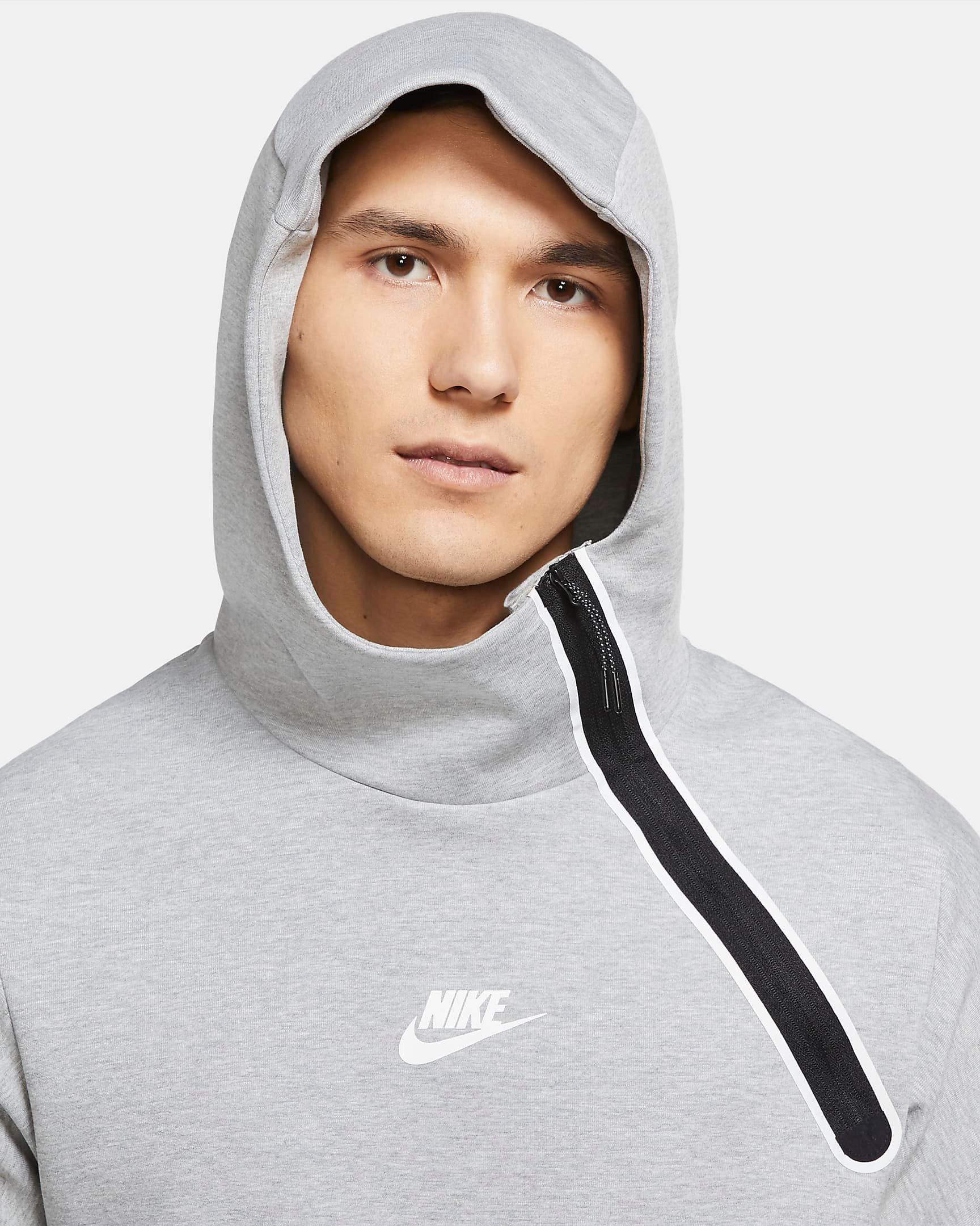 nike-tech-fleece-reflective-hoodie-grey-black-3