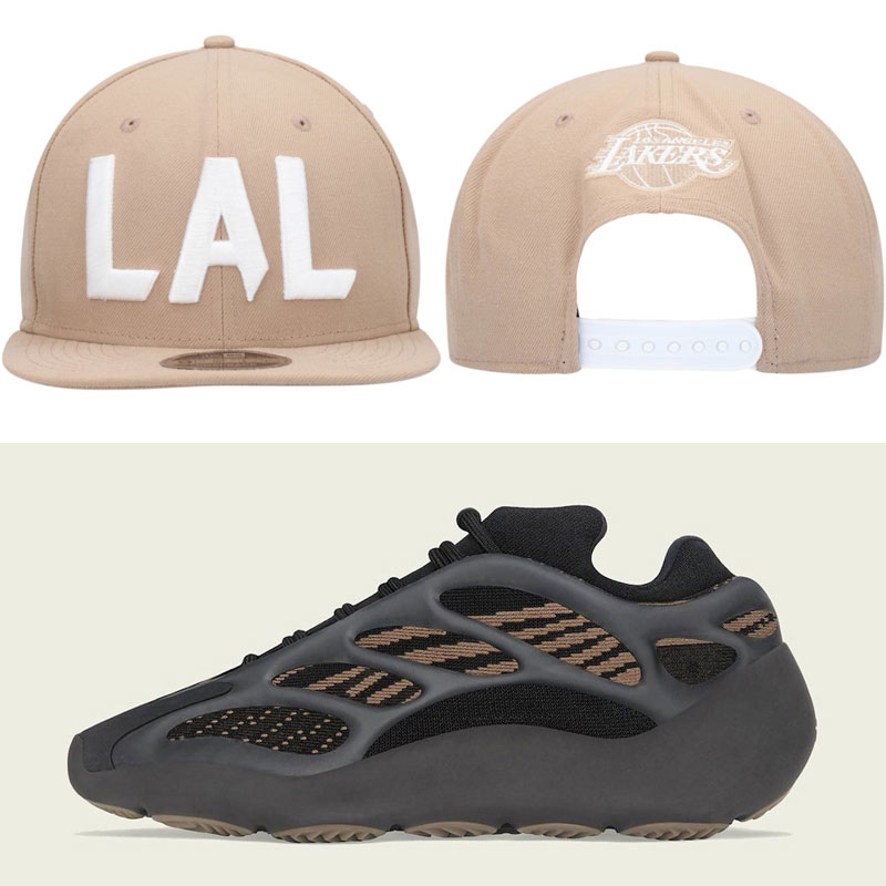 yeezy-700-clay-brown-lakers-hat-match