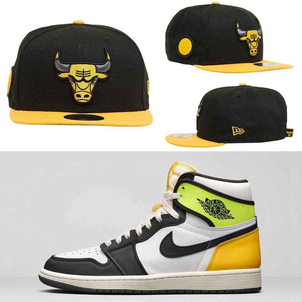 air-jordan-1-high-volt-gold-bulls-hat