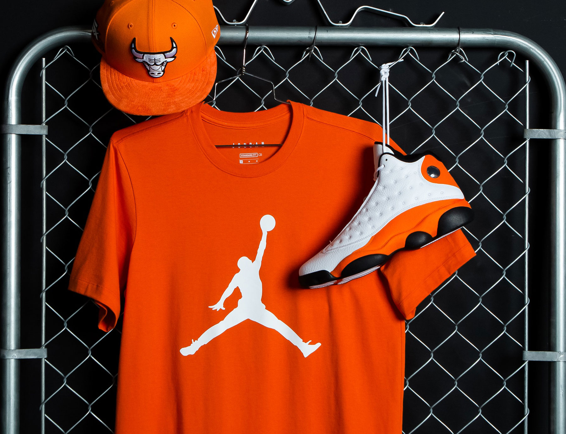 air-jordan-13-starfish-orange-hat-shirt-matching-outfit