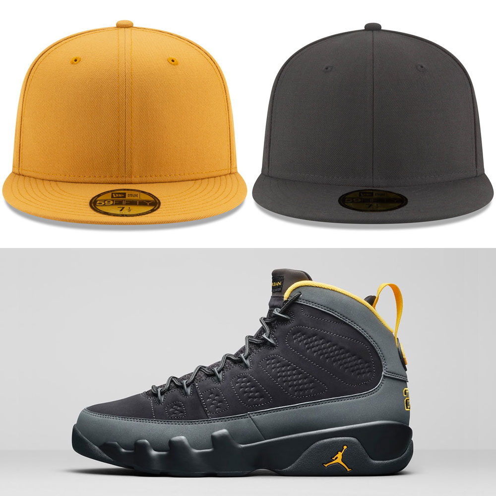 air-jordan-9-university-gold-hats-to-match