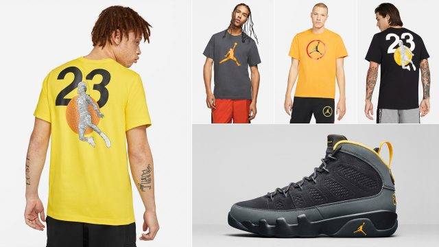 air-jordan-9-university-gold-sneaker-shirts
