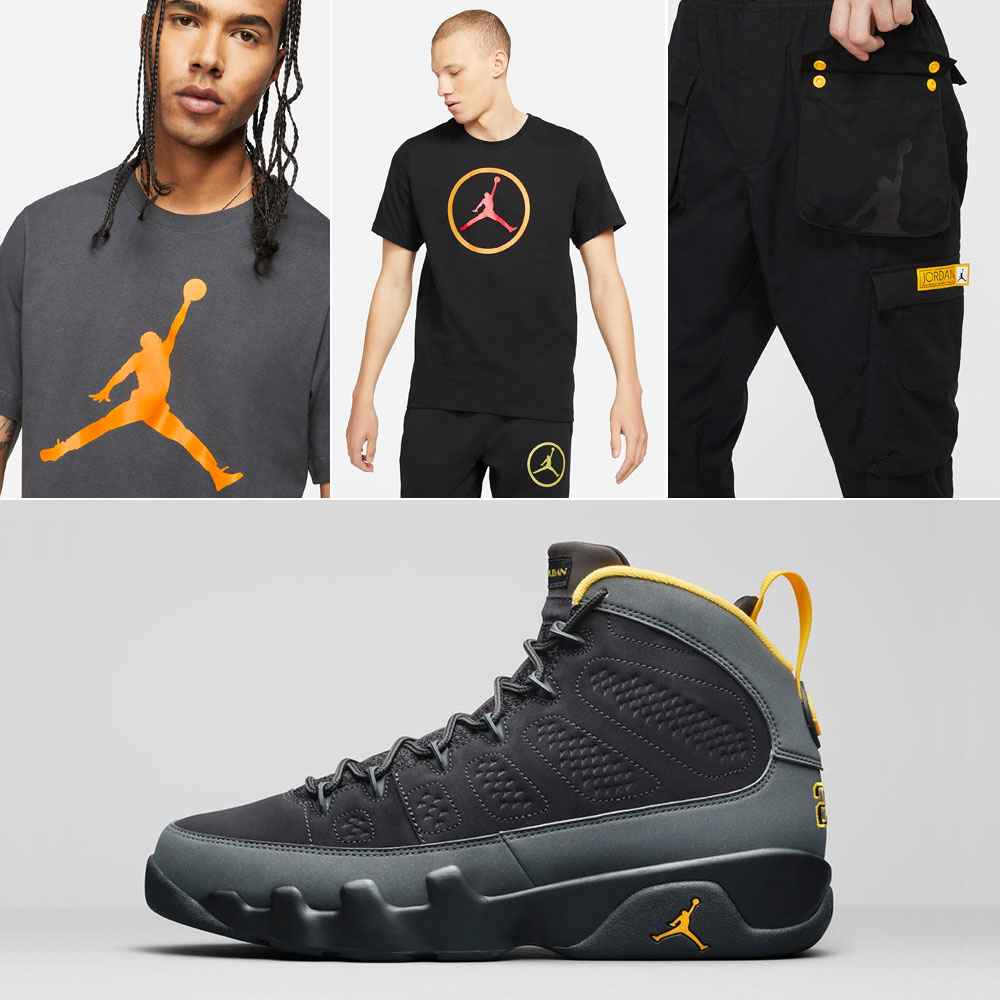 air-jordan-9-university-gold-sneaker-shirts-outfits