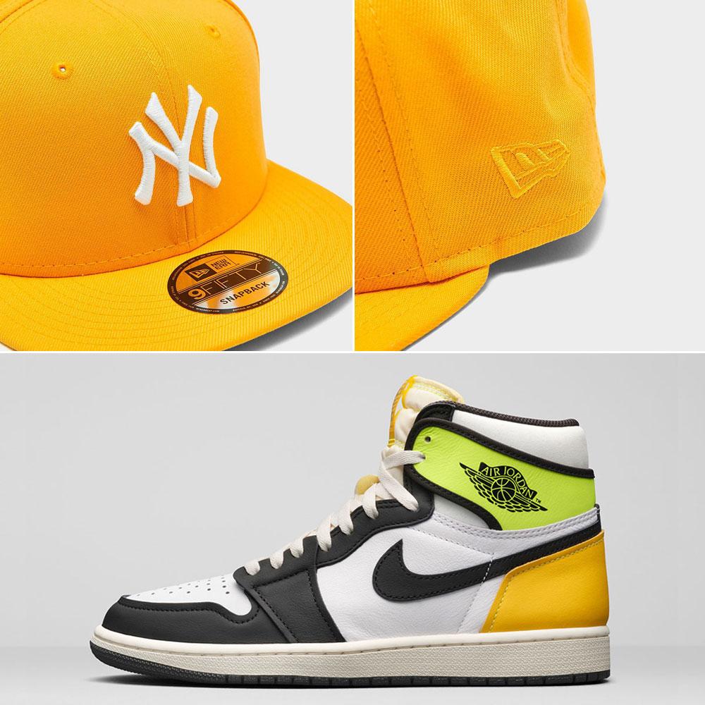 jordan-1-volt-gold-new-york-yankees-snapback-hat