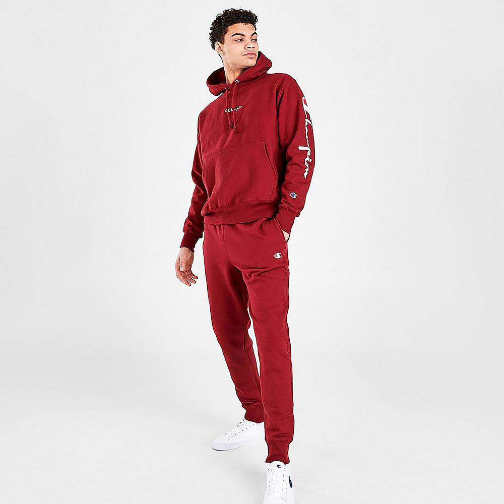 jordan-6-carmine-champion-hoodie-jogger-pants-match