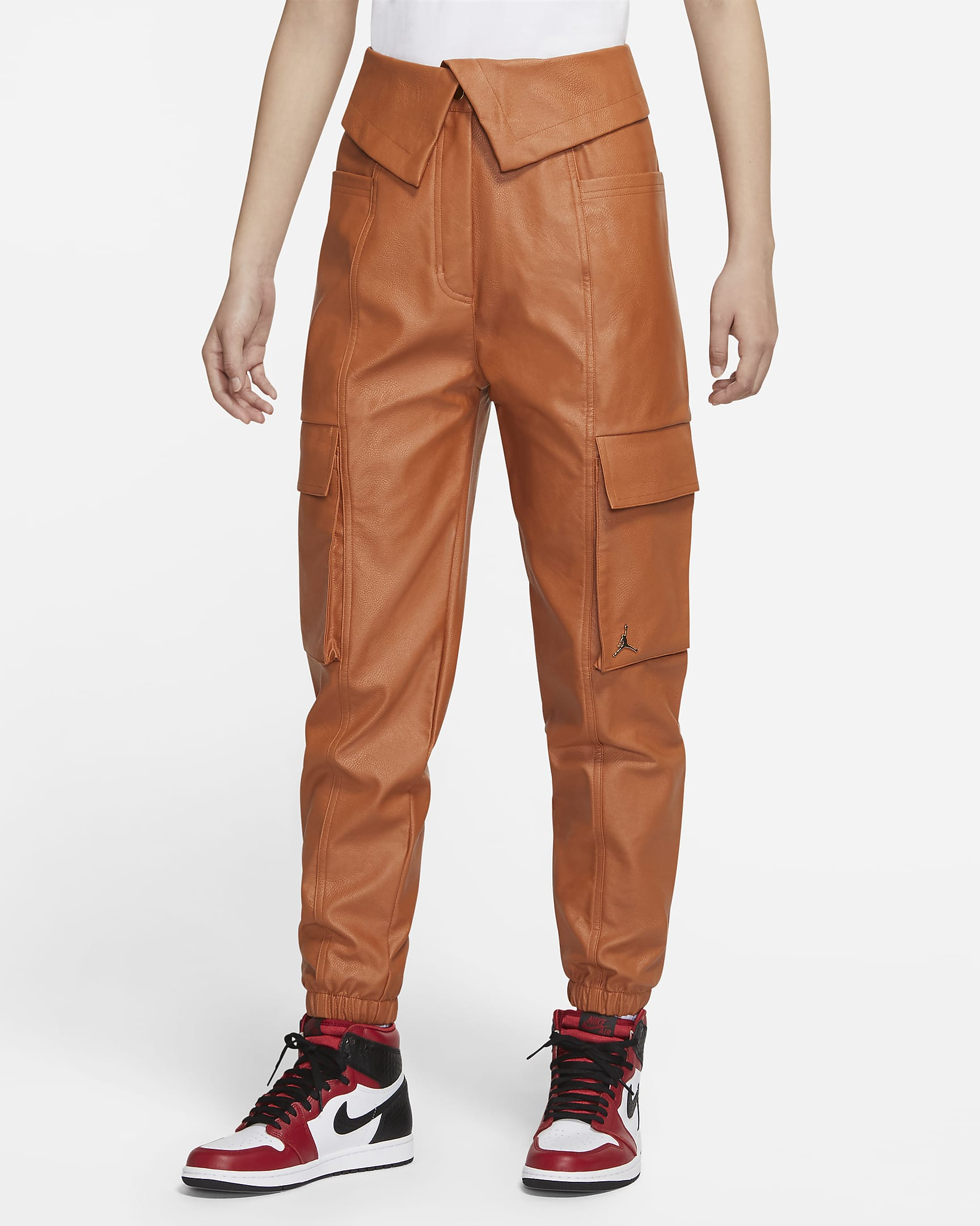 jordan-court-to-runway-womens-faux-leather-utility-pants-B740cR