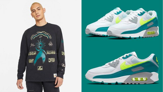nike-air-max-90-spruce-lime-shirts