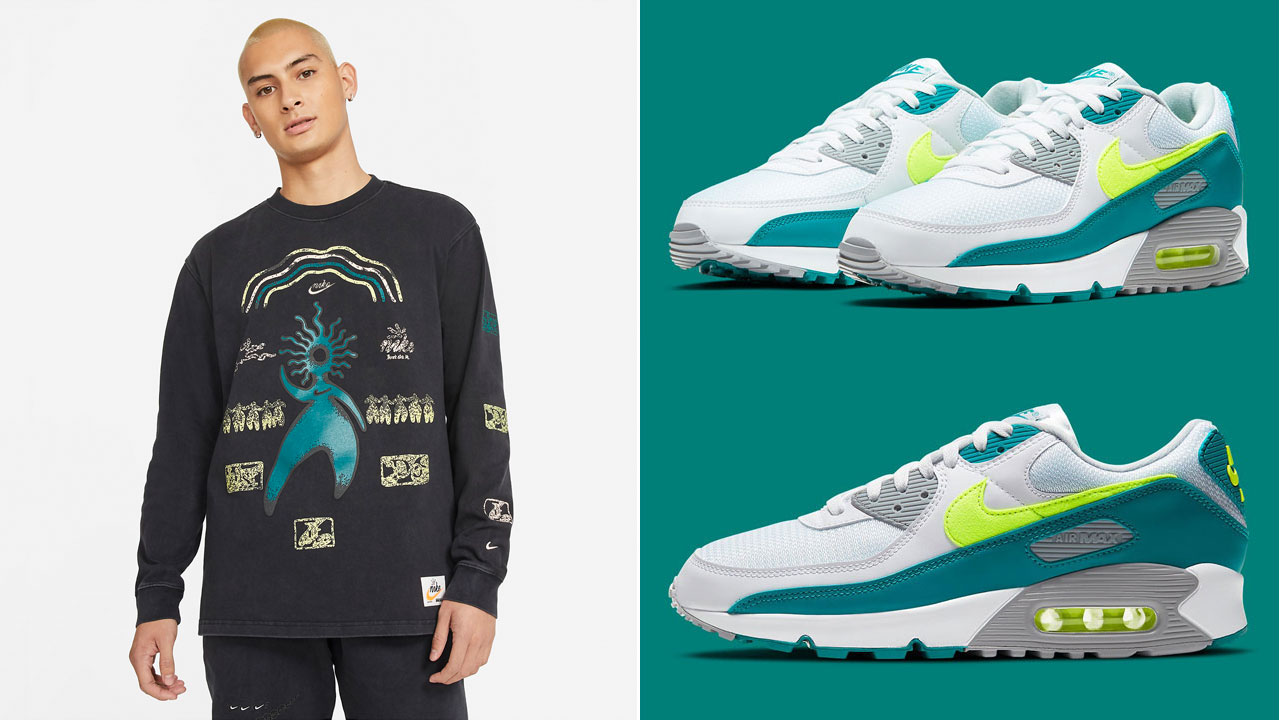 nike-air-max-90-spruce-lime-shirts