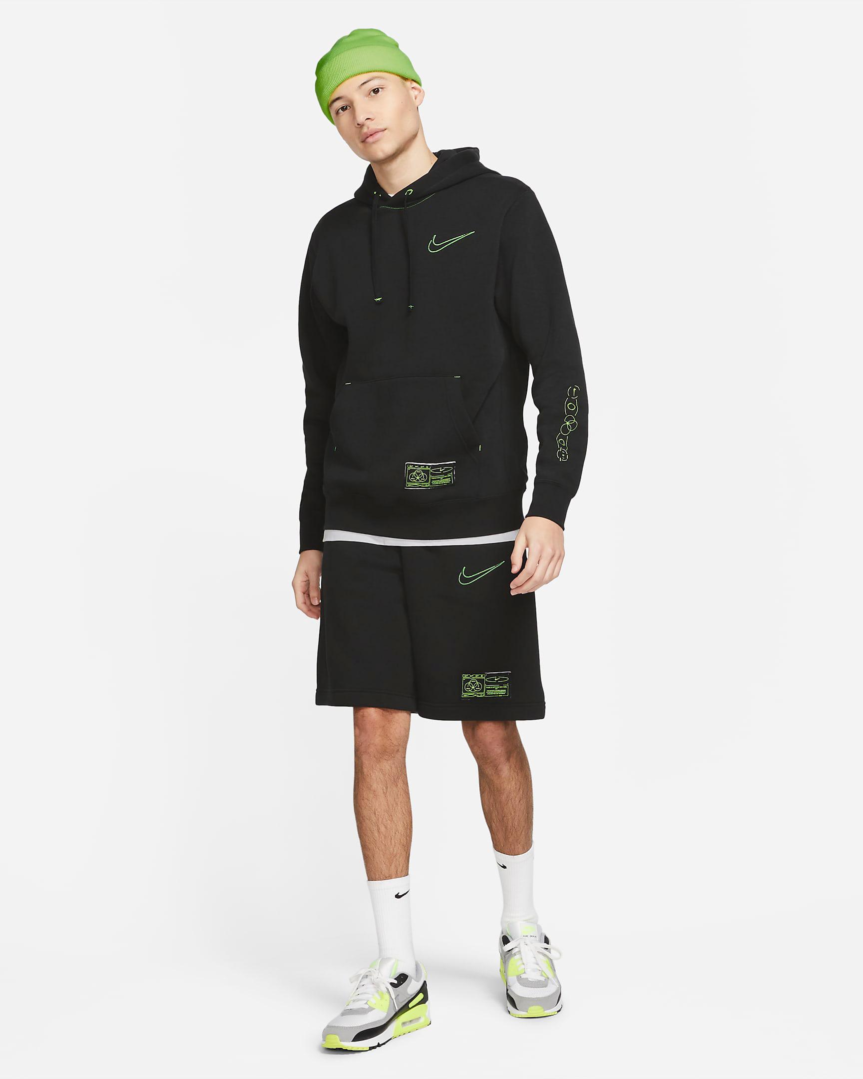nike-club-fleece-hoodie-shorts-black-volt